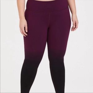 Torrid active ombré leggings 0